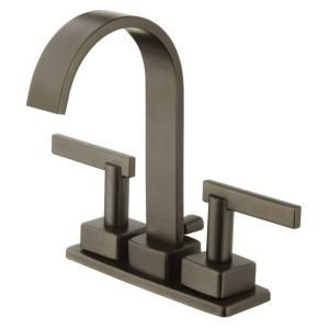 Schon Modern Ribbon 4 in. Minispread 2-Handle High-Arc Bathroom ...