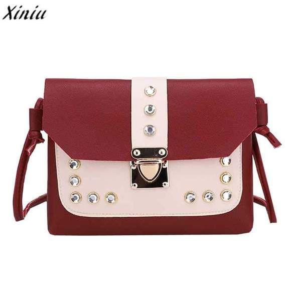 luxury handbags women bags designer 2018 Fashion Hit Color Rhinestone Shoulder  Bag Pu Leather Crossbody Bag 48014380ef