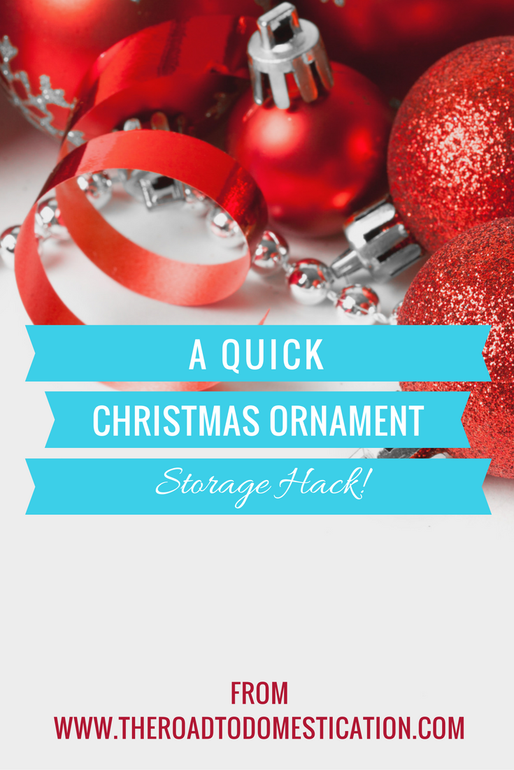 A QUICK Christmas Ornament Storage Hack! FREE PRINTABLE Included ...