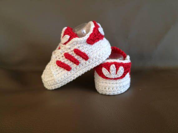 Adidas Pattern Superstar Baby Crochet Adidas Newborn Babyschühchen
