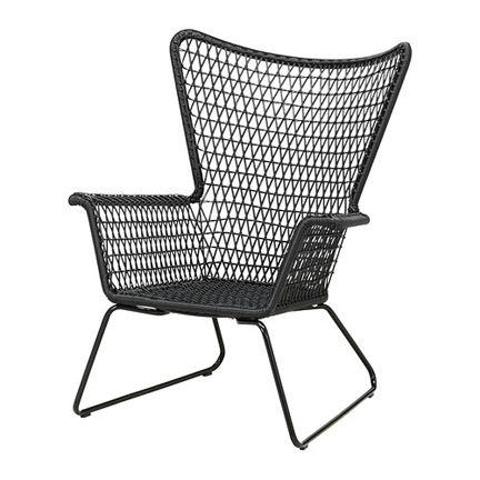 Best Ikea Mid Century Modern Woven Black Outdoor Lounge 400 x 300