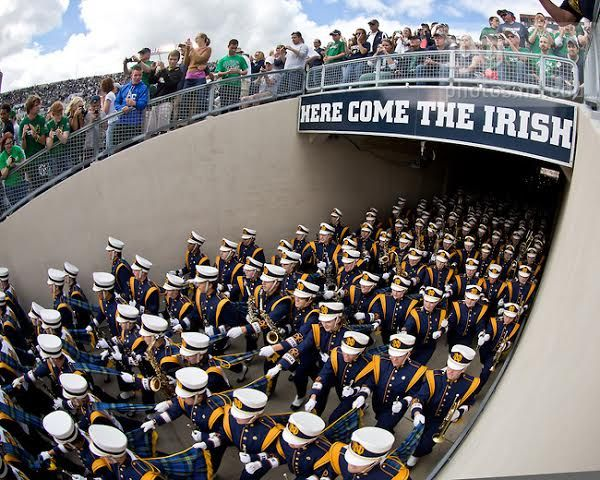 29 Thoughts Every Nd Band Member Has In The Tunnel Notre Dame Fighting Irish Notre Dame Notre Dame Football