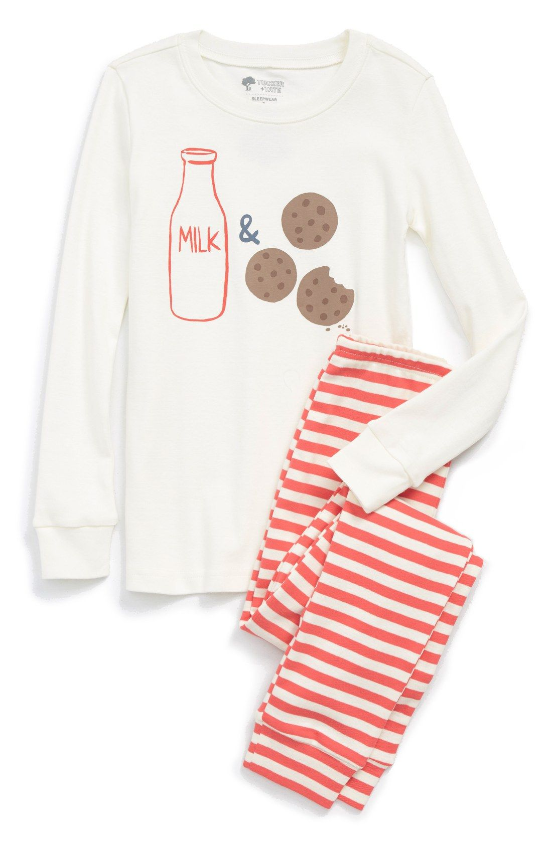 Tucker + Tate Two-Piece Fitted Pajamas (Toddler Girls, Little Girls ...