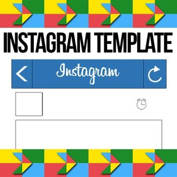 Instagram template! Print off this blank Instagram template for - classroom seating chart templates