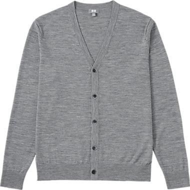 c190502c64bf88 HERREN Merino Strickjacke | Klamotten | V neck cardigan, Mens ...