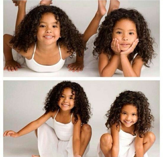 OMG! These two are so cute. Their hair is so beautiful.