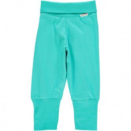 Pants rib, turquoise, Maxomorra