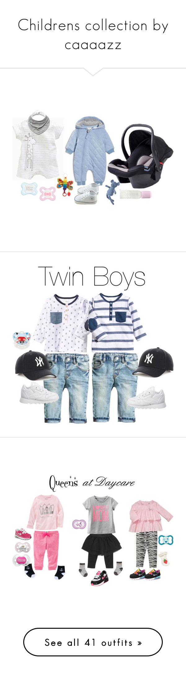 """Childrens collection by caaaazz"" by caaaazz ❤ liked on Polyvore featuring Petit Bateau, Armani Junior, Reebok, Disney, NIKE, Carter's, Gymboree, BabyGirl, queens and BabyGirlfashion"