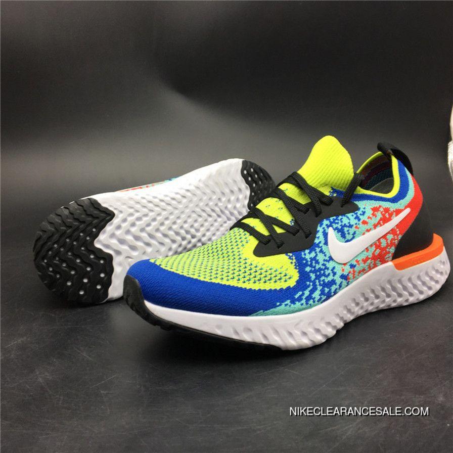 c559dac11b70 Nike Epic React Flyknit AQ0067-005 Cushioning Technology Woven Foamposite  Particles React Running Shoes Copuon