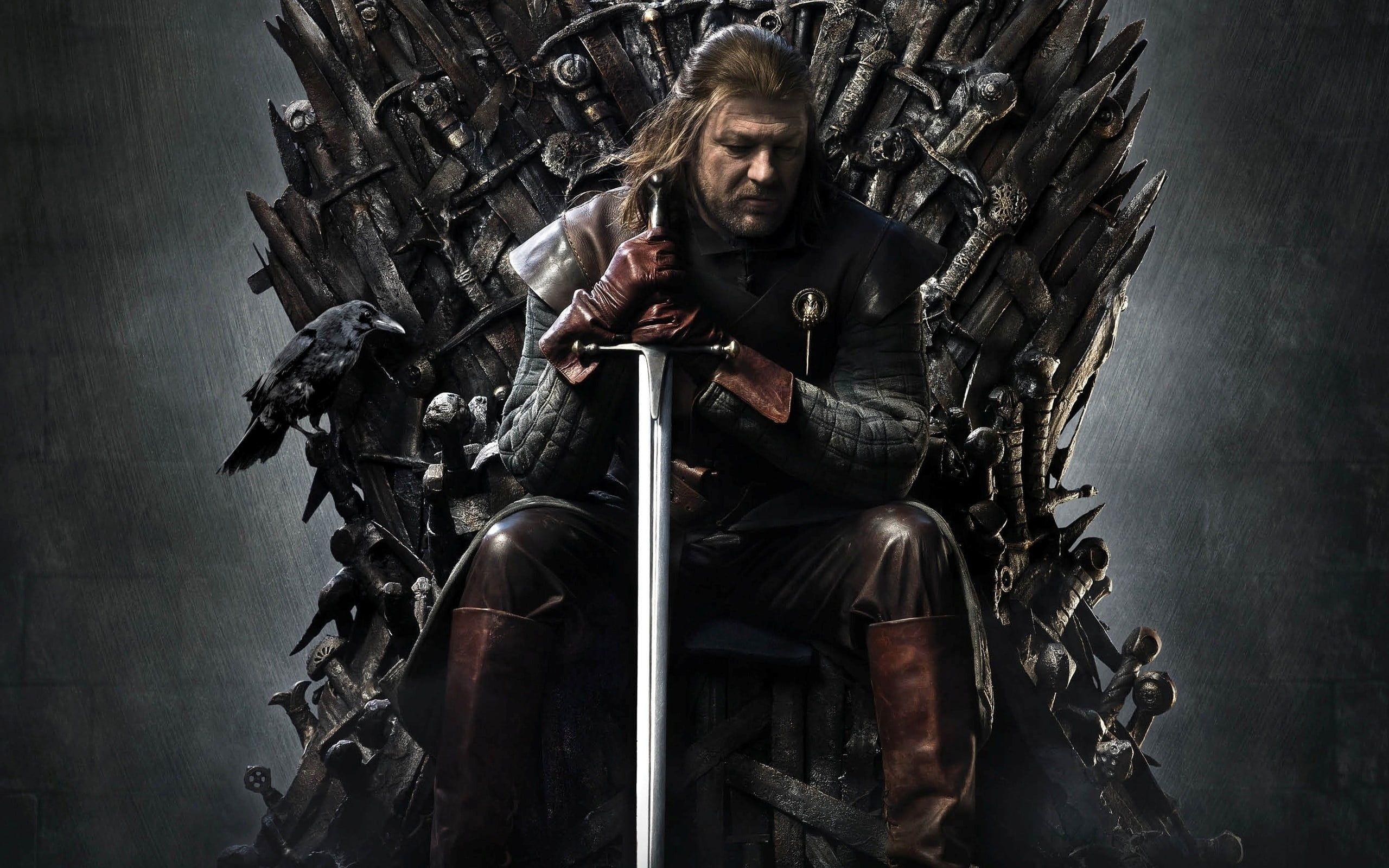 Led Stark Sitting On Iron Throne Digital Wallpaper Game Of Thrones Tv Ned Stark 2k Wallpaper Hdwallpaper Desktop Game Of Thrones Concert Lena Headey
