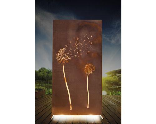 Sichtschutzwand Pusteblume 95 X 185 Cm Rost Sichtschutzelemente