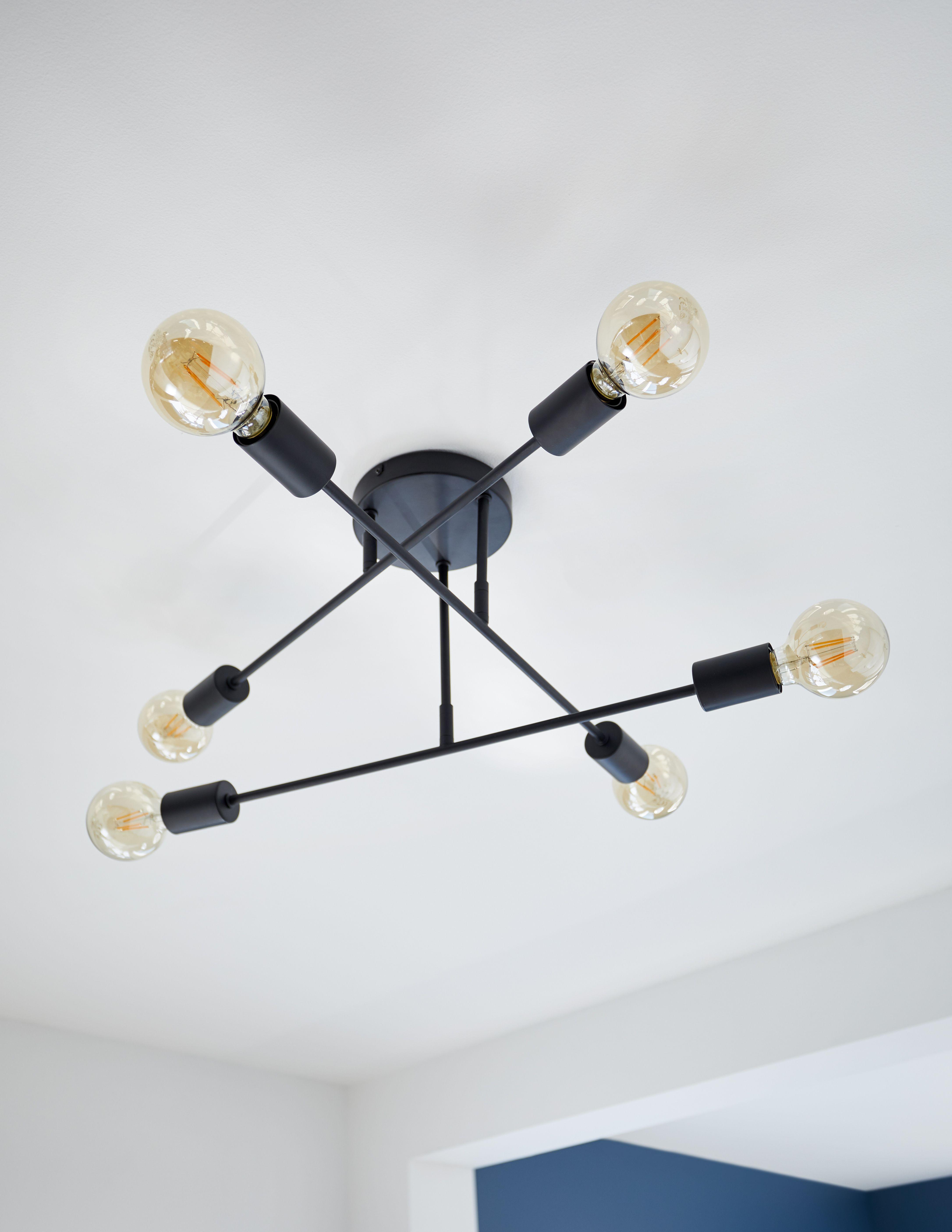 Un Plafonnier Au Style Industriel Qu On Agremente D Ampoules A Filament Pour Un Esprit Loft Castorama Insp Plafonnier Luminaire Style Industriel Luminaire