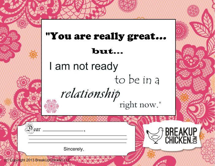 Not Ready For Relationship Customizable Break Up Letter  Breakup