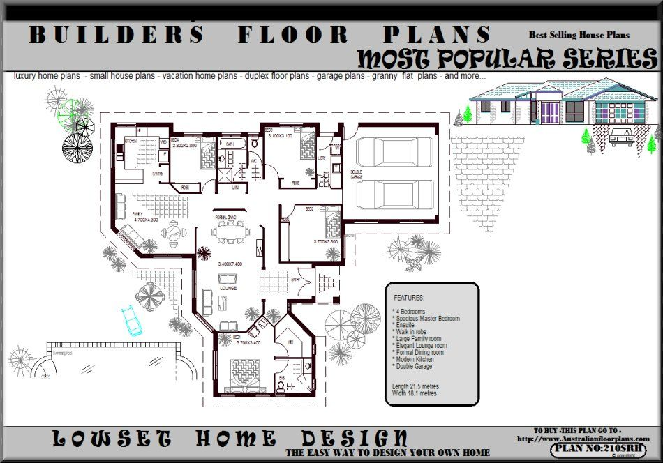 Plans bedroom house floor plans single story awesome for Open plan house designs australia