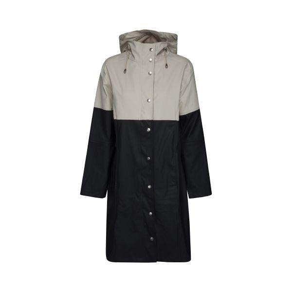 5fb95f5edb8 Ilse Jacobsen True Rain raincoat - dark indigo - milk creme ...