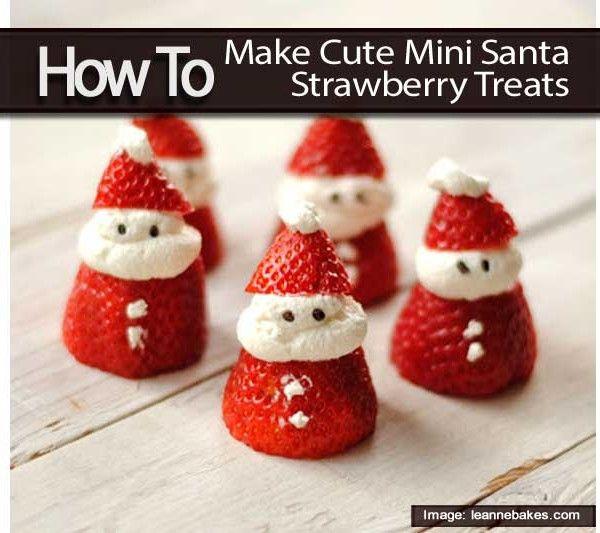How To Make Cute Mini Santa Strawberry Treats