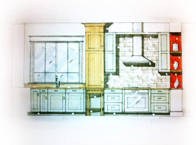 Modern Kitchen Sketch Concept