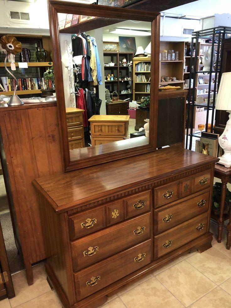 Bassett Dresser with Mirror • Bassett Dresser with Mirror ...