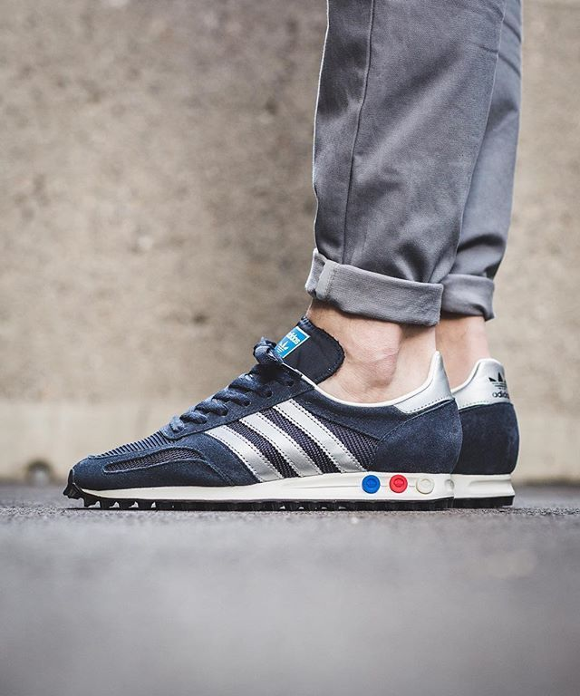 purchase cheap c824b 6bad6 adidas Originals LA Trainer OG  Legend Ink Metallic Silver Night Navy
