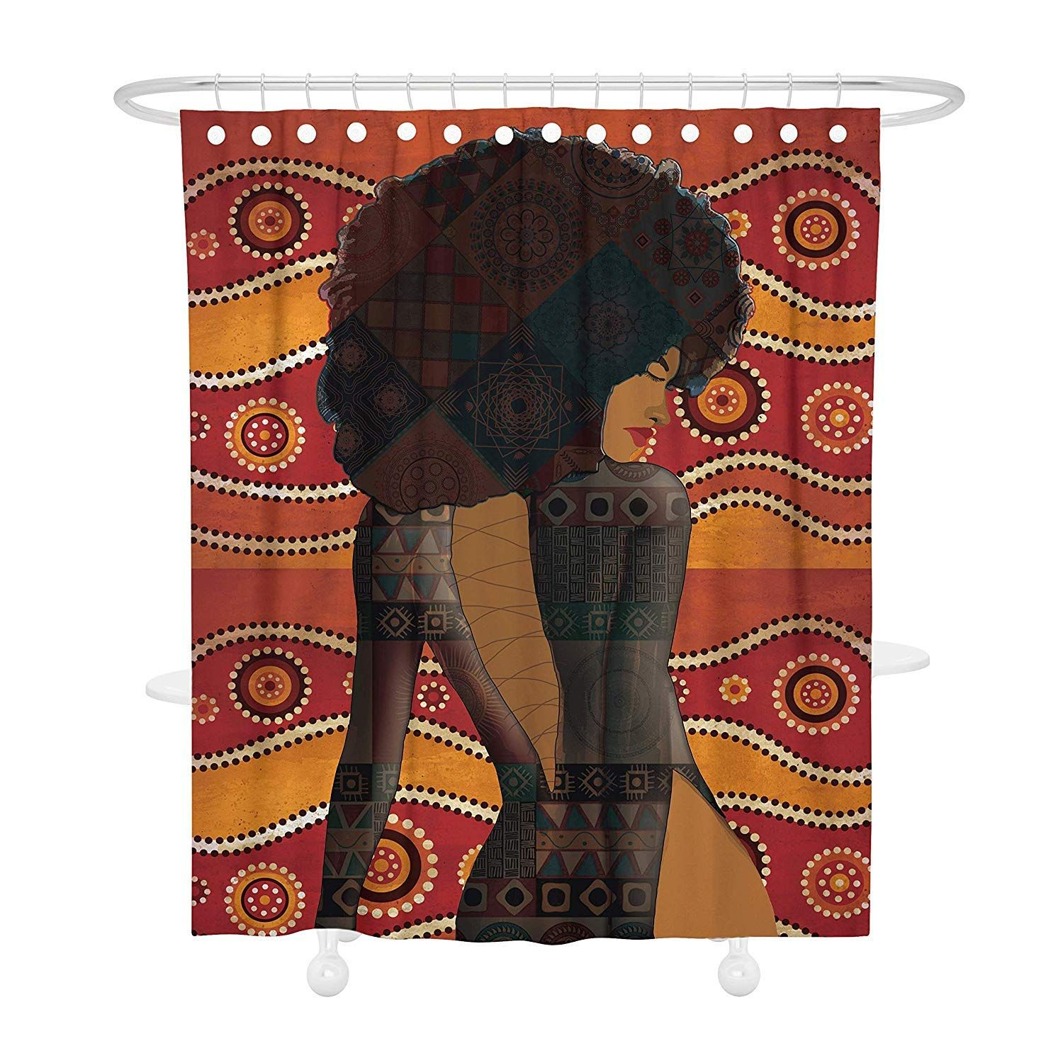 13 99 Bonsai Tree S Afrocentric Shower Curtain African American