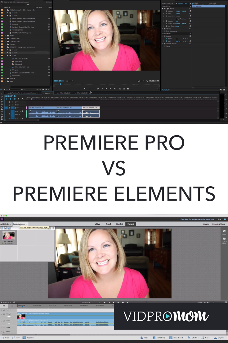 adobe premiere pro vs premiere elements what s the difference