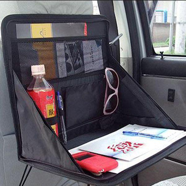 Car Laptop Holder Tray Bag Mount Back Seat Food Table Desk Organizer