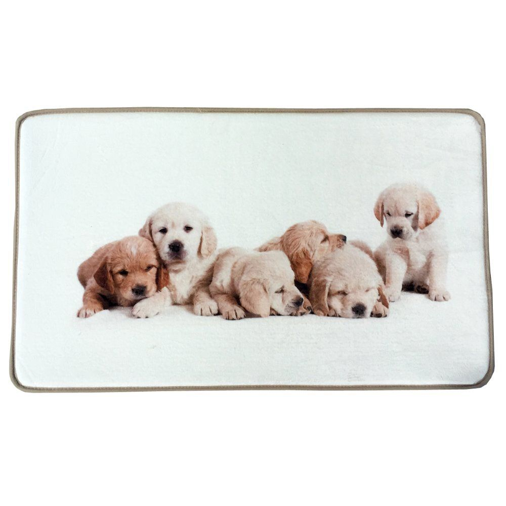 45x72cm Cute Pup Dogs Print Custom Carpet Non-slip Rugs Pad Living ...