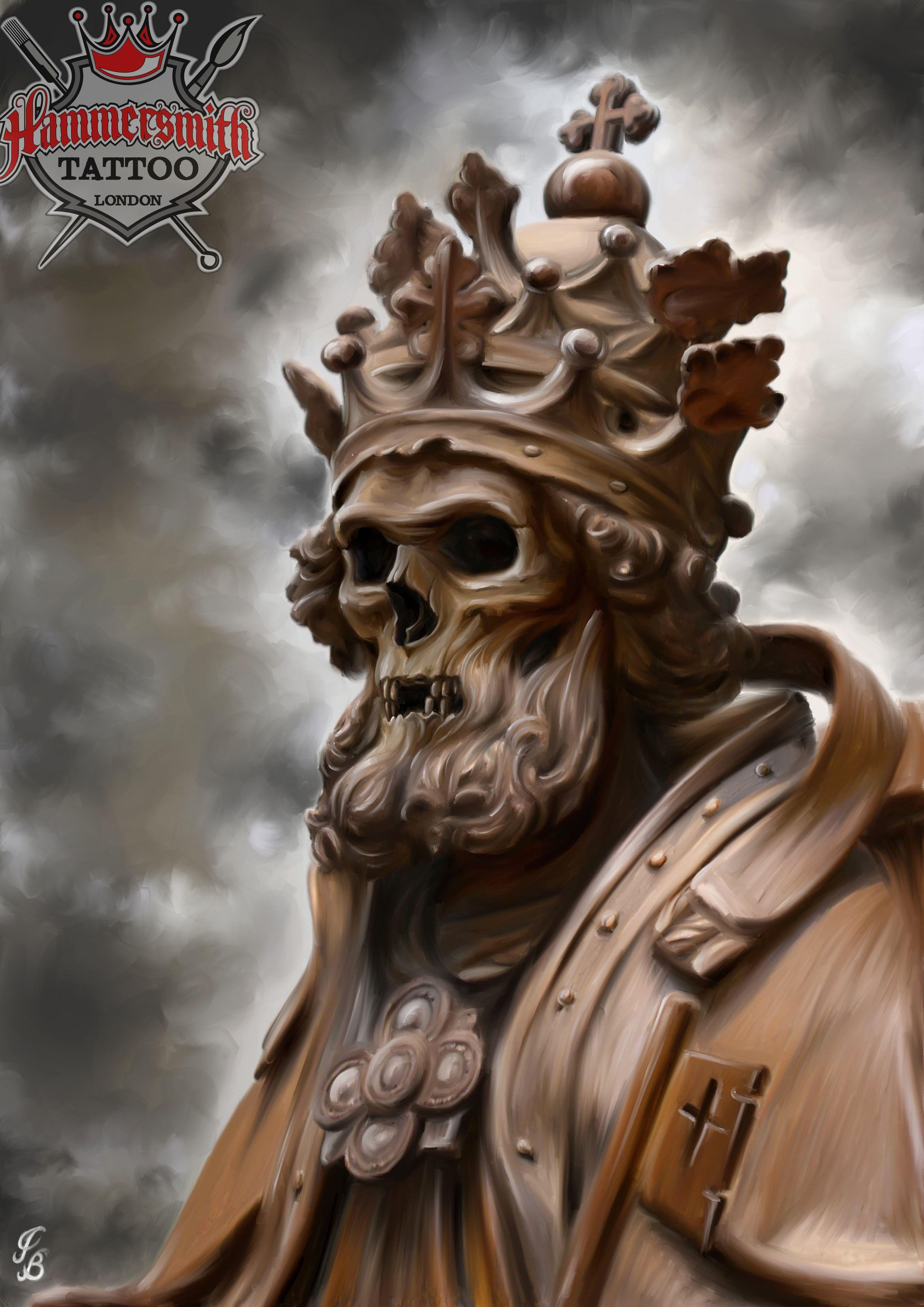 #king #skull #painting | The very best! | Pinterest ...