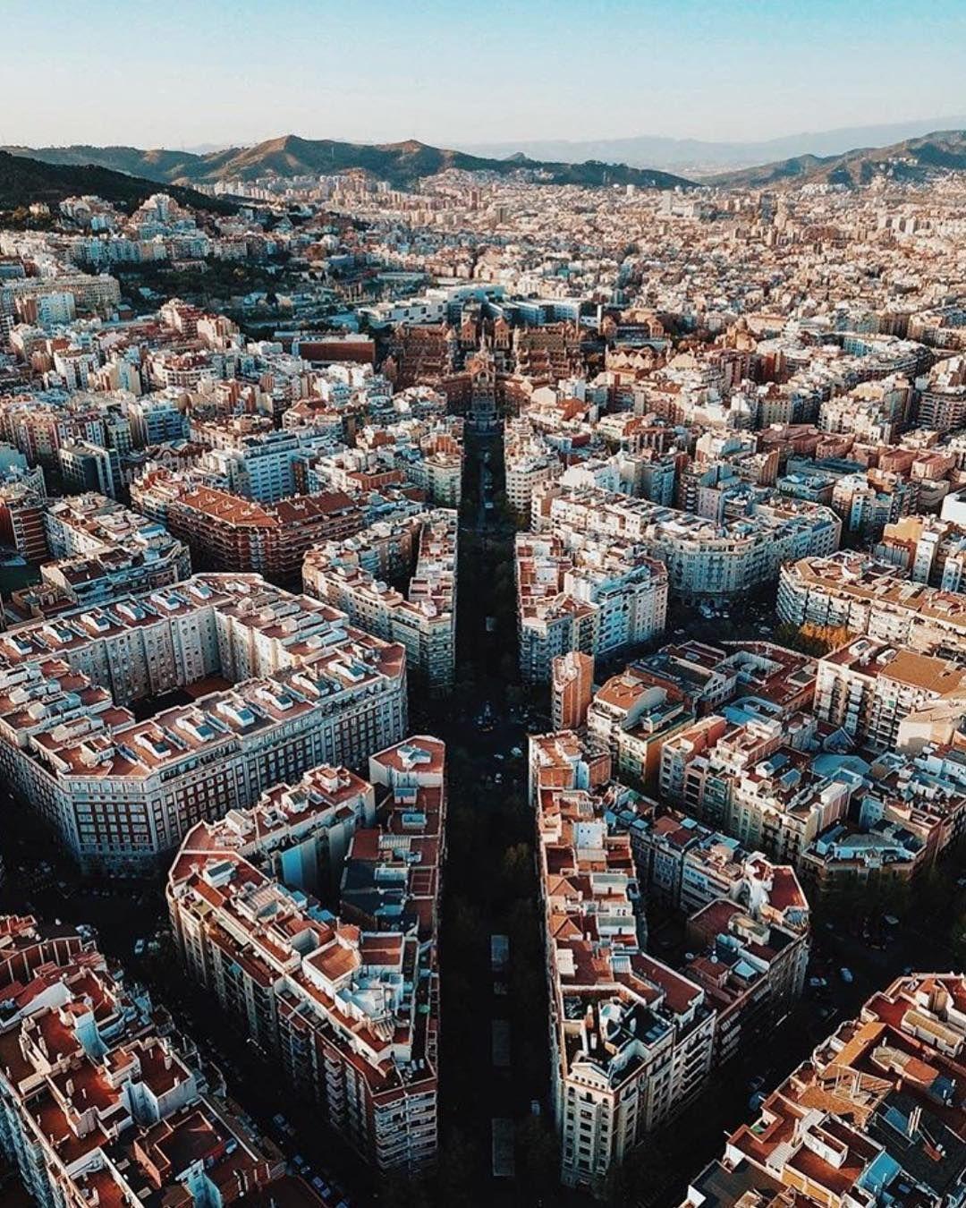 Living Europe On Instagram Aerial Perspective Barcelona