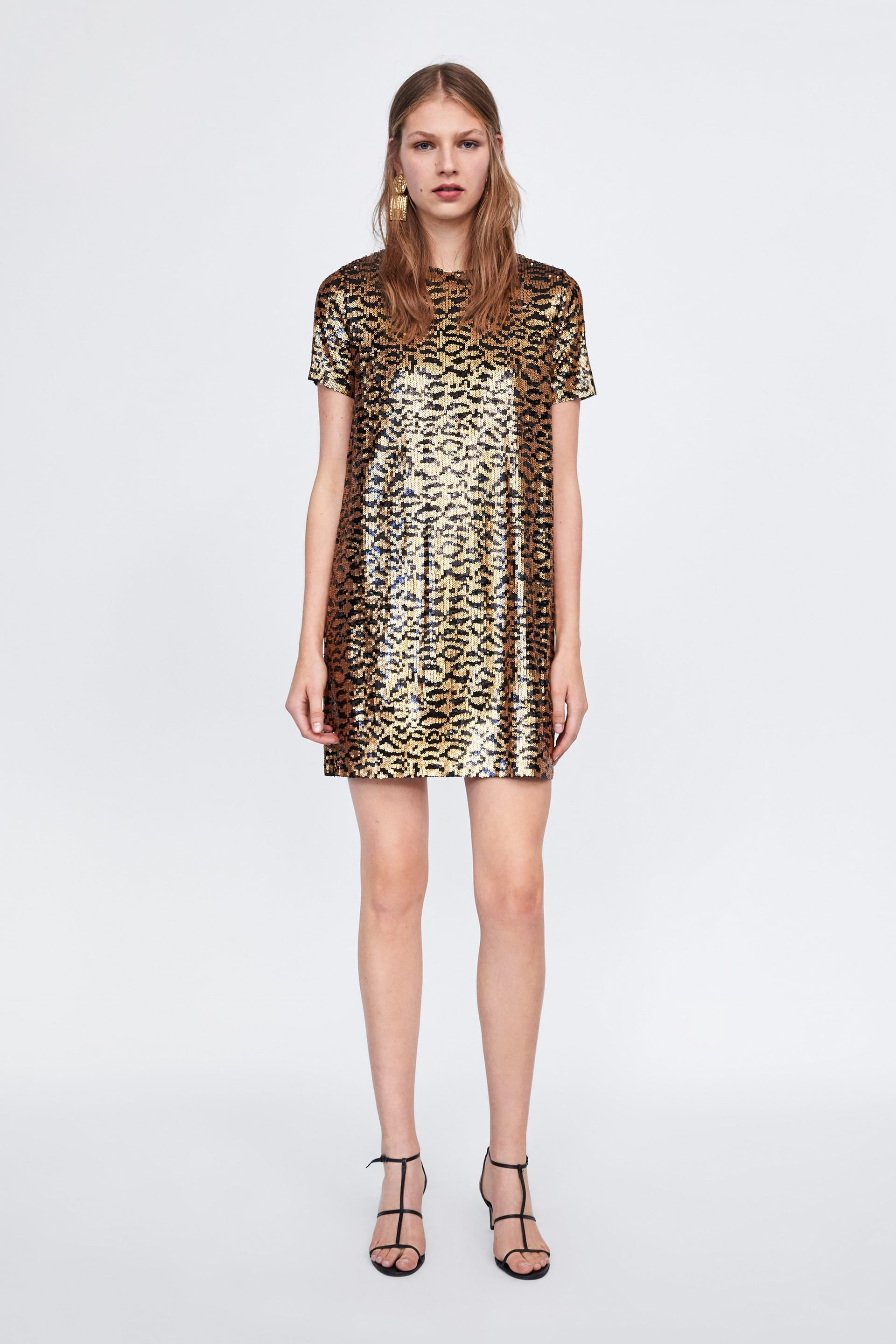 042ef35216 Image 1 of ANIMAL PRINT SEQUIN DRESS from Zara | Mix and Jingle ...