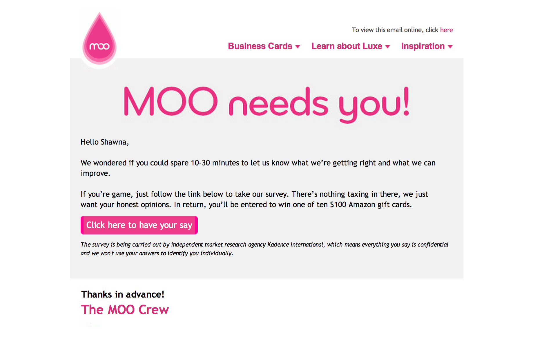 Image Result For Survey Email Email Invitation Design Moo