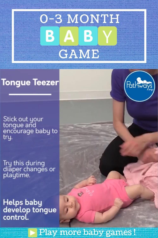 0-3 Month Baby Game: Tongue Teezer