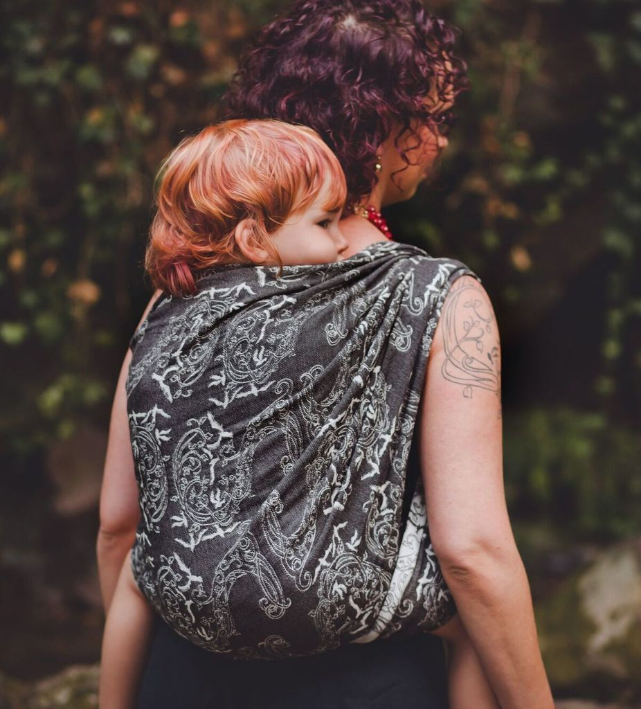 fab7e96cf1e Tekhni Wovens Ring Sling - Nymphai Tuxedo-Slings   Carriers-The Sensible  Mama