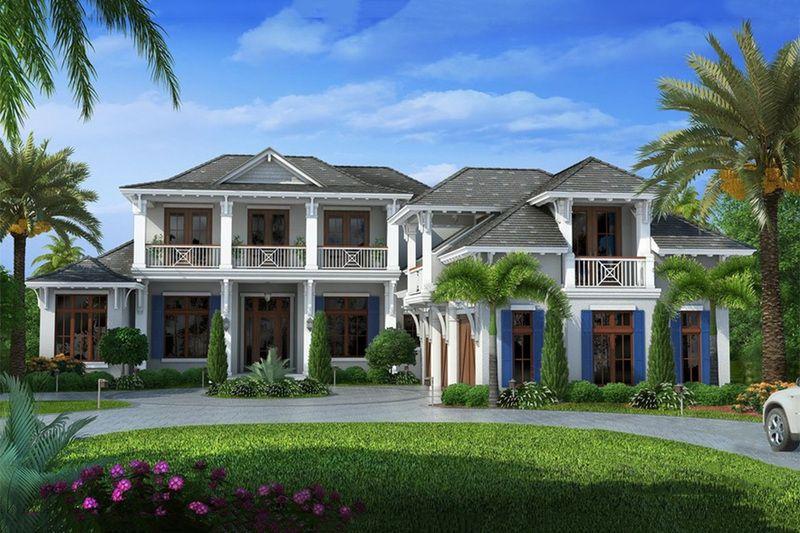 Beach Style House Plan - 6 Beds 65 Baths 10605 Sq/Ft Plan #27-462