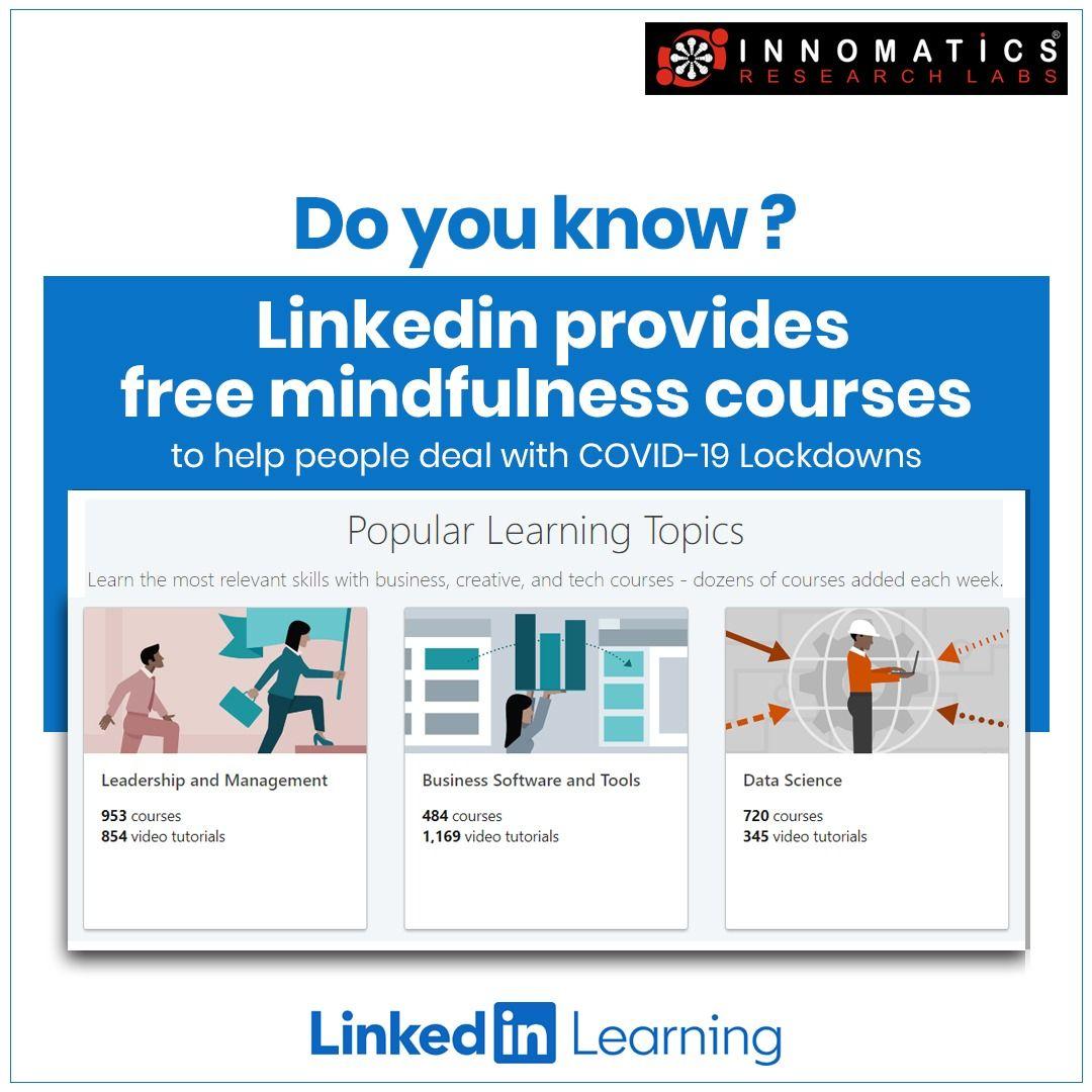 Linkedin Marketing Courses Mindfulness Courses Data Science