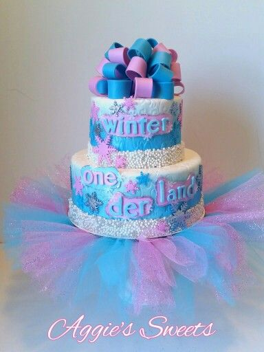 Winter ONEderland Cake these are Avas colors Avas 1st Bday