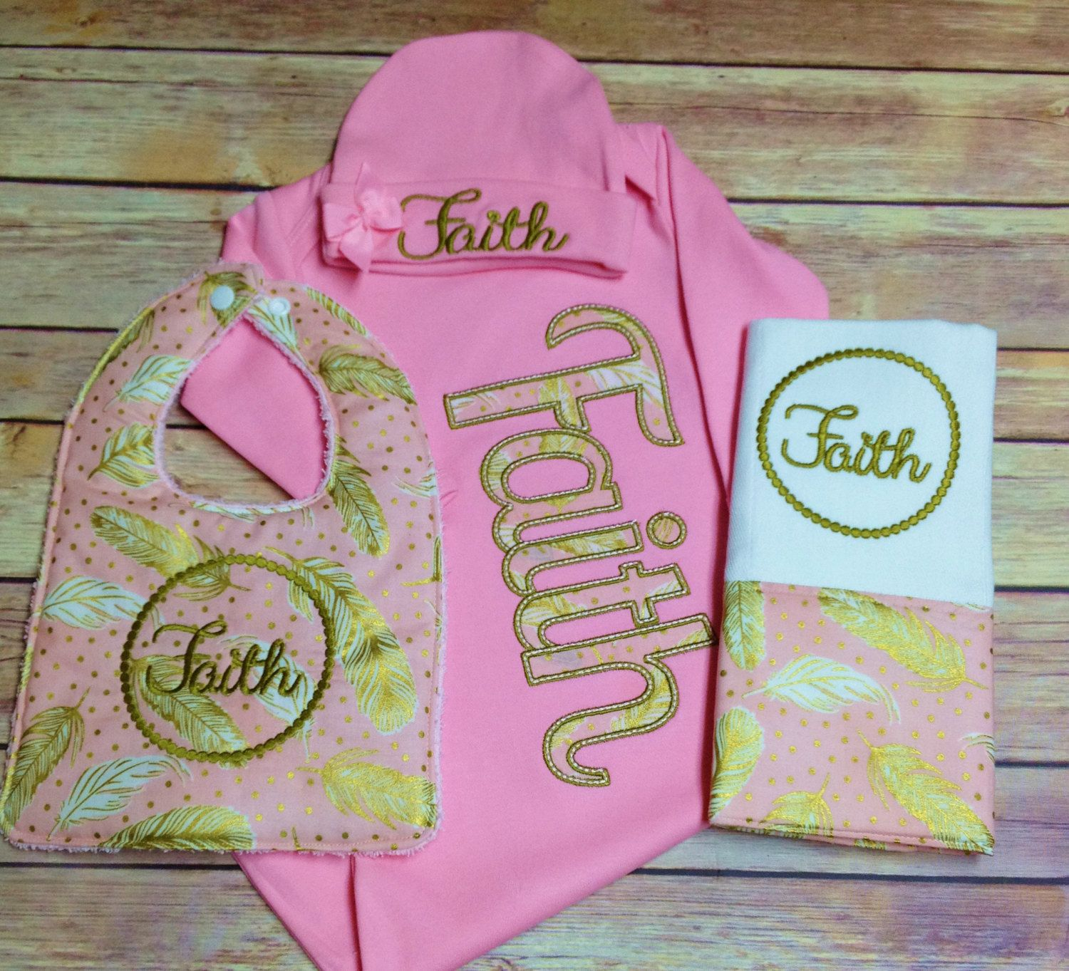 gold outfit baby newborn coming pink home girl pin take