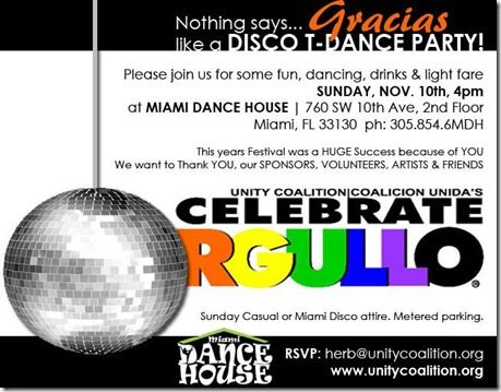 Unity Coalition to host Celebrate Orgullo thank you party 4 p.m. Sunday at Miami Dance House