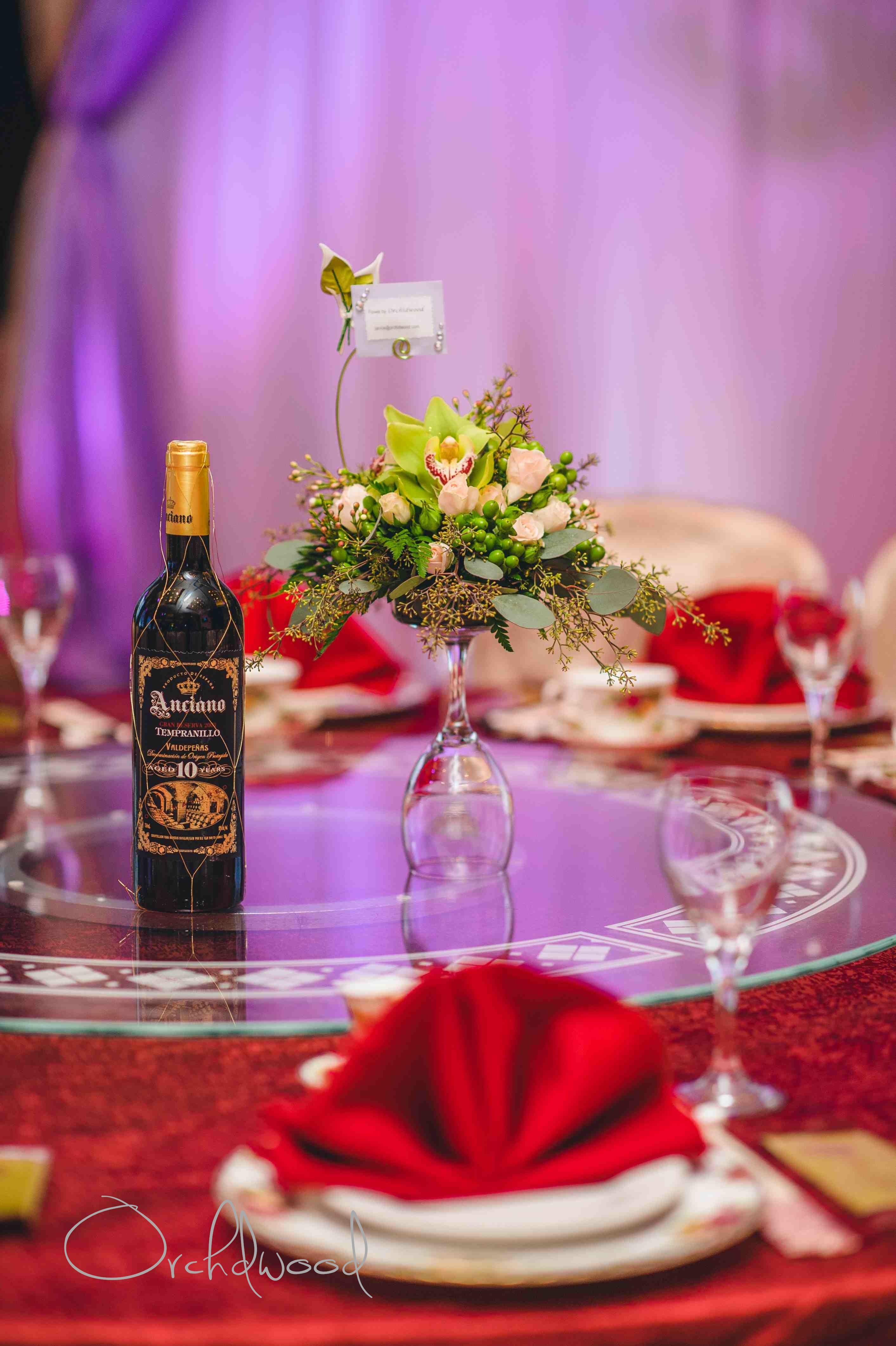 Wine Glass Arrangement Table Decorations Decor Flora