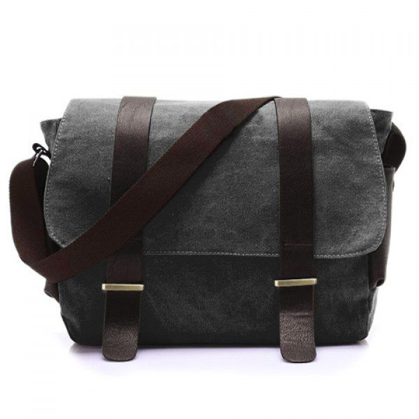 Stylish Style Splice and Canvas Design Messenger Bag For Men #>=#>=#>=#>=#> Click on the pin to check out discount price, color, size, shipping, etc. Save and like it!