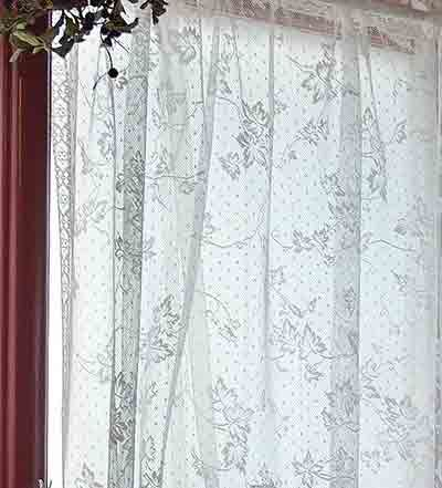 Lace Fabric To Sew Your Own Lace Curtains Lace Curtains Bee