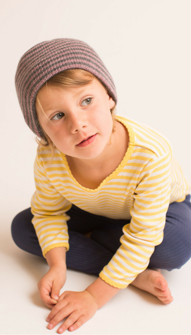 The Golightly Cashmere Toddler hat in School Girl. Golightly Cashmere is  made in USA 00d80b359eb