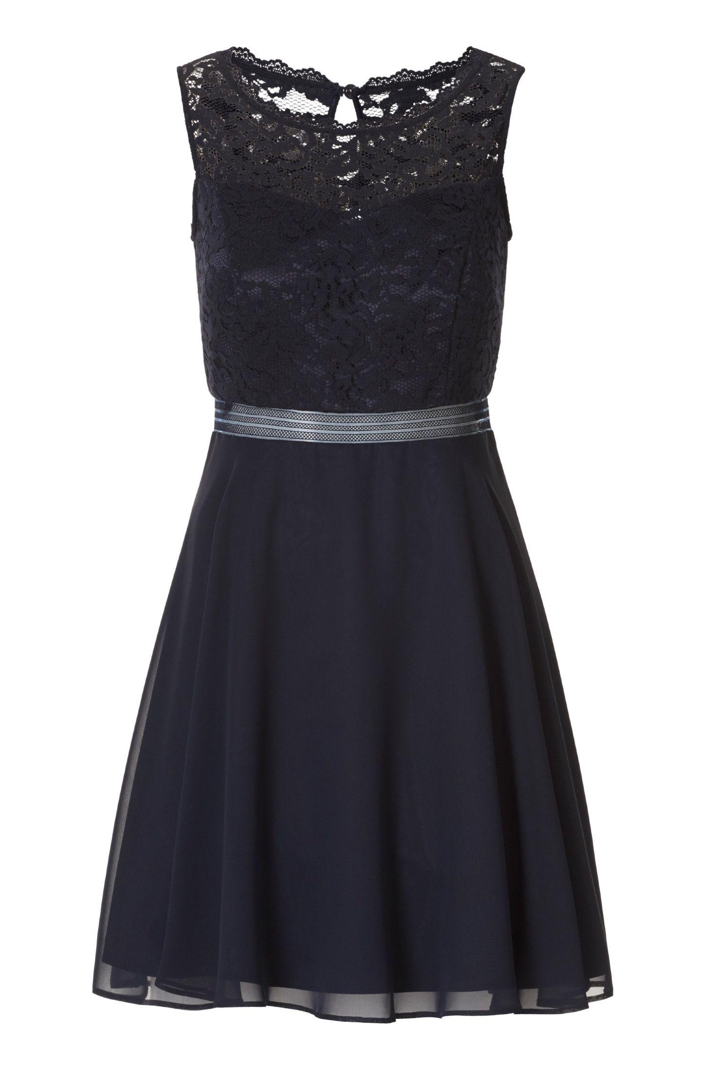 Leichtes Cocktailkleid • Kleid mit halbtransparentem
