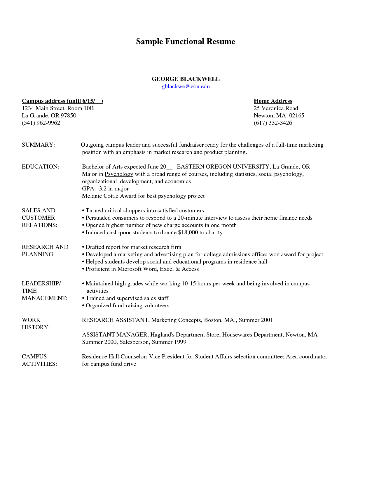 functional resume samples free inspiration decoration builder