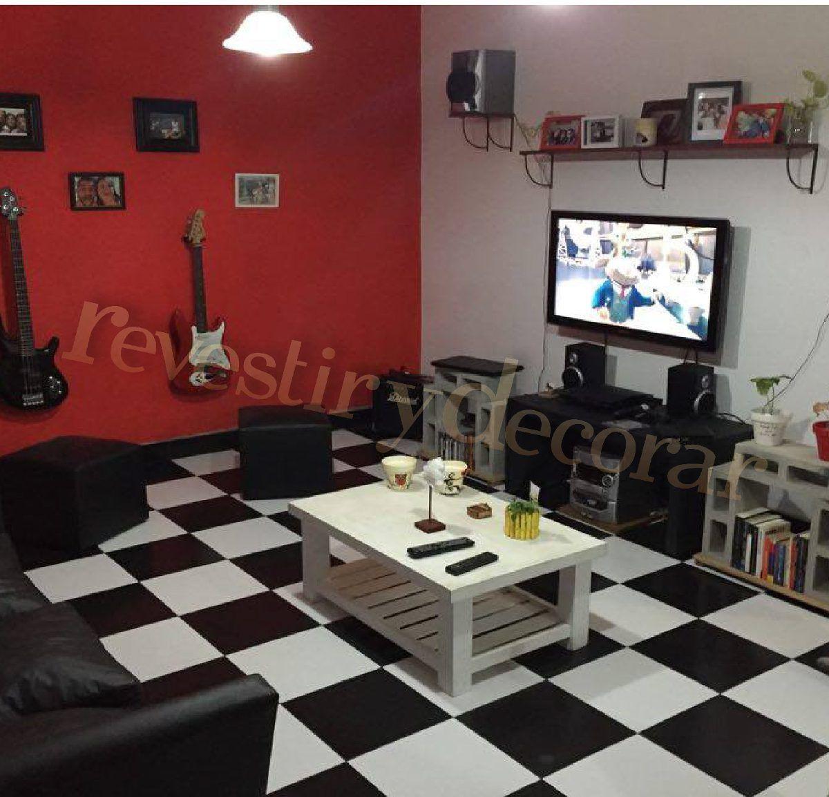 Ceramica piso blanco negro texturada 35x35 1 calidad for Deco sala en blanco y negro