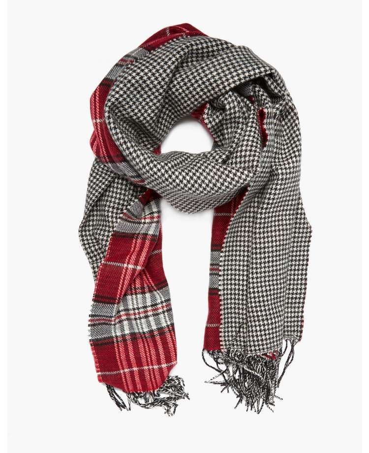 Absolutely love this BLONDE & BLONDE Reverse Tartan Scarf!