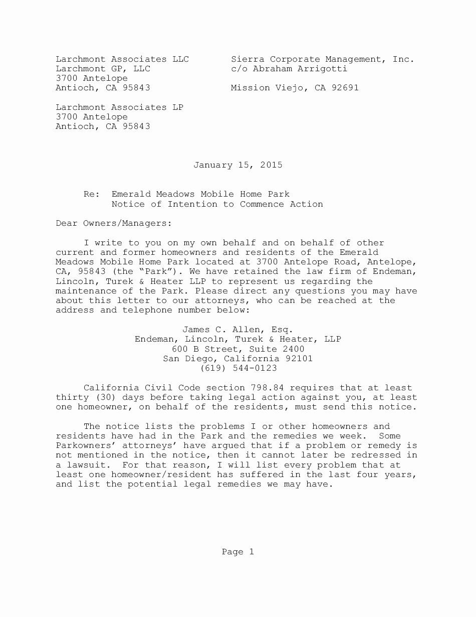 Legal Letter format Template Awesome Letter Intent to Take