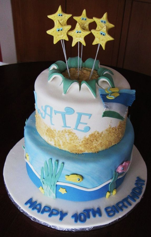 Beach Birthday Children S Birthday Cakes Beach Birthday Cake Beach Birthday Birthday Cake Girls