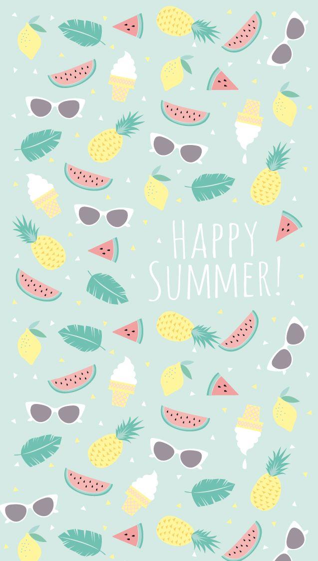 Happy Summer Fruits Iphone Wallpaper Panpins Desktop Wallpaper Summer Summer Wallpaper Iphone Wallpaper