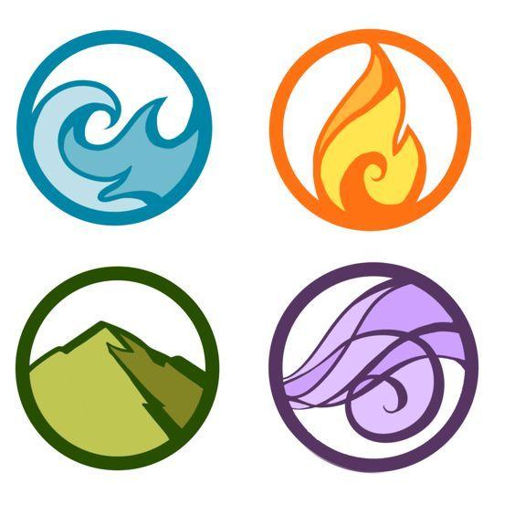 Agua Fuego Tierra Aire Elementos Simbolos Tatuajes De Los Cuatro Elementos Elementos